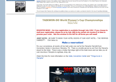 World taekwondo alliance